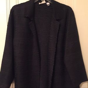 Chic Black Ruched Jacket